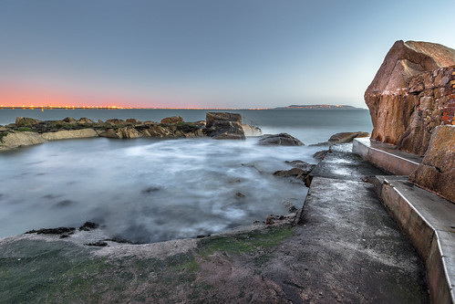 longexposure travel ireland light sea sky dublin orange seascape motion water pool night sunrise landscape photography dawn photo rocks europe day natural sony wideangle onsale sandycove konicaminolta1735 sonya7