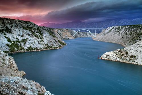 bridge sunset spring mediterranean dusk croatia zadar croazia zara croatie hrvatska horvatorszag dalmatia dalmacija maslenica croacie
