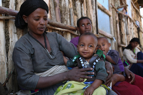 Weynitu Demissie, 34, has a 7 months old daughter who is recovering from acute malnutrition | by UNICEF Ethiopia