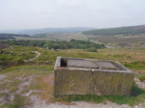 Alien Leftover, Burbage Rocks (unfinished trough) SWC Walk 266 - Sheffield to Bamford (via Burbage Rocks and Stanage Edge) or to Moscar Lodge