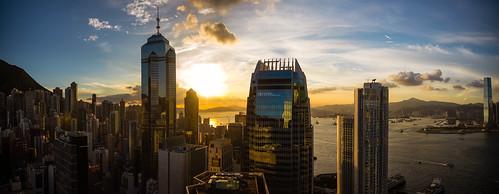 sunset skyline hongkong evening skyscrapers victoriaharbour garyjones 2013 nikond800