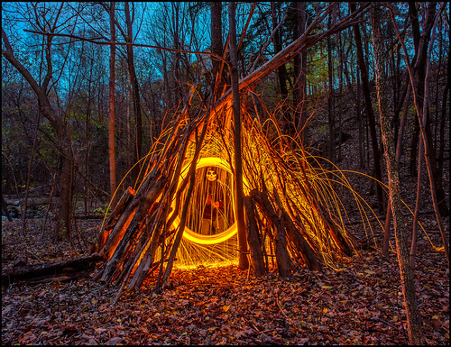 lightpainting wool death steel wigwam