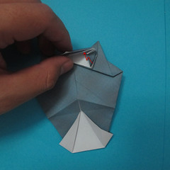 วิธีการพับกระดาษเป็นรูปนกเค้าแมว 026