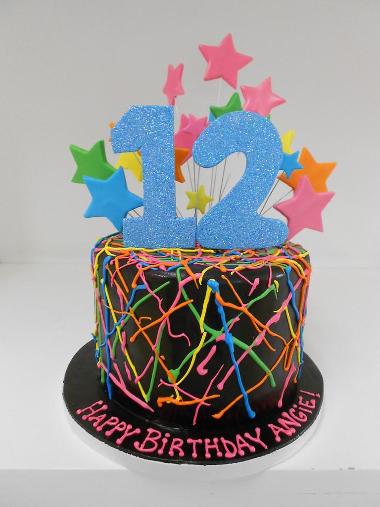 Fabulous Neon Birthday Cake 2381 Asweetdesign Info 818 363 98 Flickr Funny Birthday Cards Online Necthendildamsfinfo