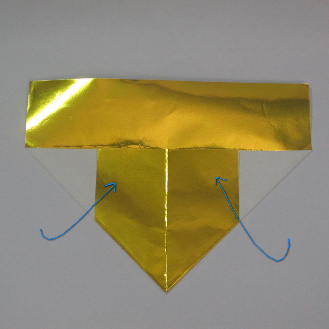 วิธีพับกระดาษเป็นรูปหัวใจติดปีก (Heart Wing Origami) 007