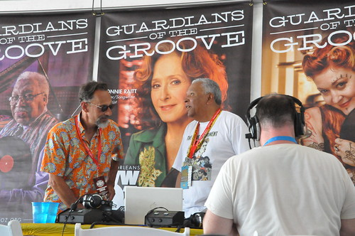 Old Man River and Charles Burchell in the Hospitality Tent. Photo by Kichea S Burt.