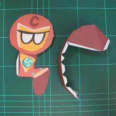 วิธีทำโมเดลกระดาษตุ้กตาคุกกี้รัน คุกกี้รสฮีโร่ (LINE Cookie Run Hero Cookie Papercraft Model) 005
