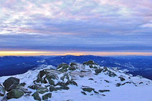new winter sunset snow southwest ice point washington woods rocks lafayette mt view jan january overcast nh hampshire mount vista sw rime bretton 2015 goofer