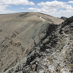 Rocky goat traverse between Otokomi and East Flattop