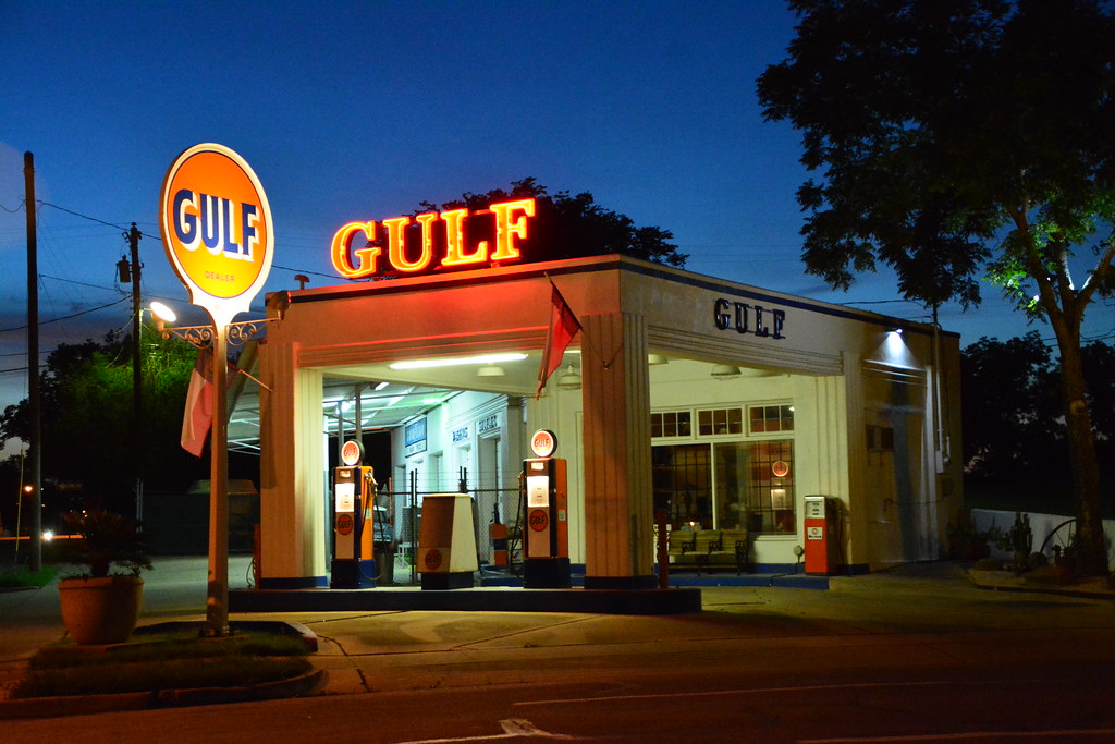Gulf Gas Station Near Me >> Vintage Gulf Service Station Waco Texas Restored 1929 G