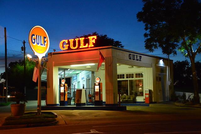 Vintage Gulf Service Station.