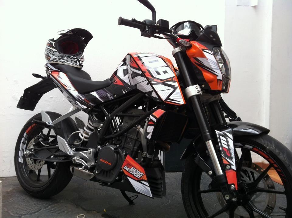 Ktm Duke 200 Sticker Pack Kit Para Motocicletamlm F 33507