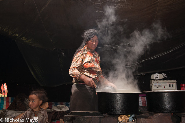 Cooking In The Drokpa Tent
