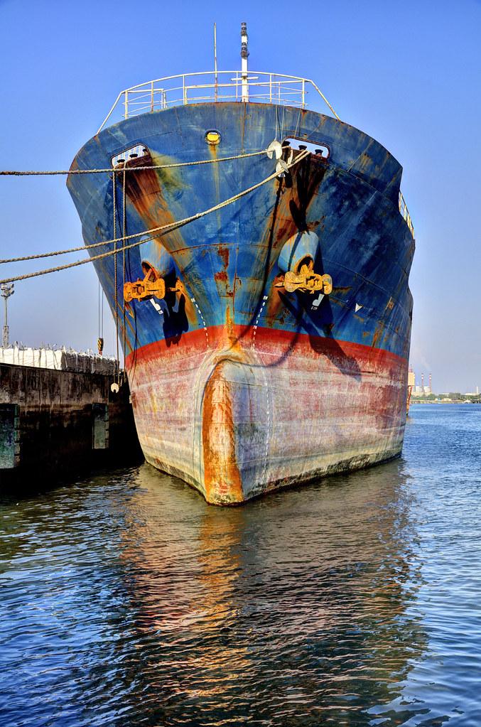 Cargo Ship, Port Qasim, Karachi | Waseem Ahmed  | Flickr