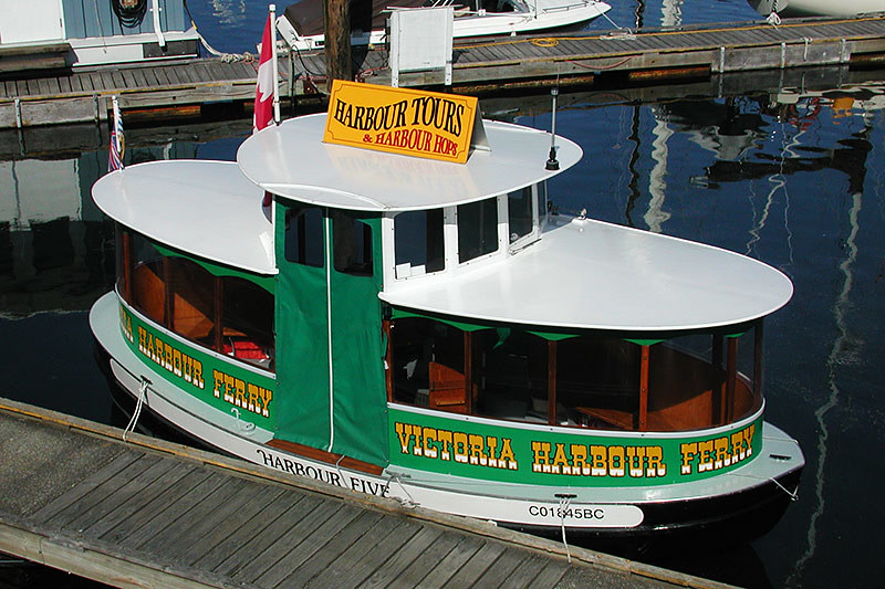 Harbour Ferry at West Bay Marina, Esquimalt, Victoria, Vancouver Island, British Columbia