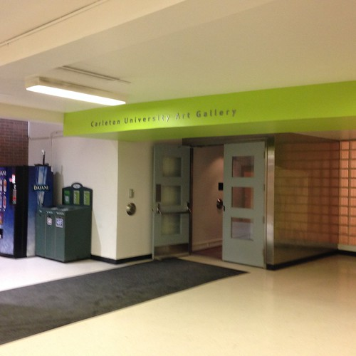 Entrance to the Art Gallery at Carleton