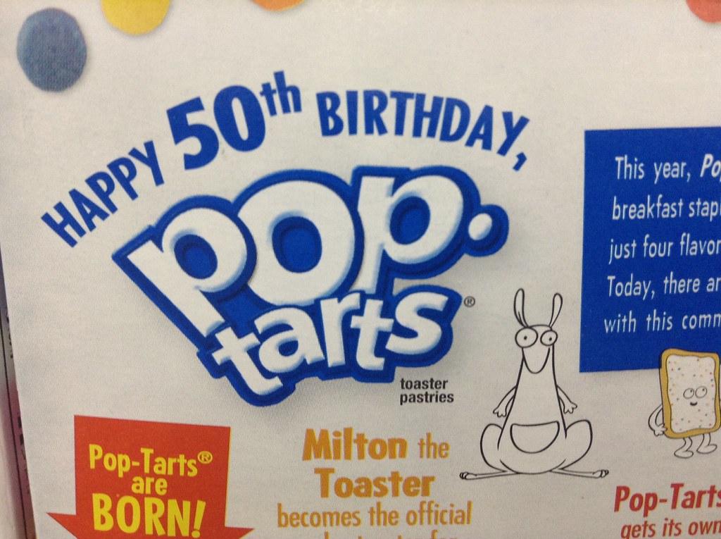 Strange Pop Tarts Birthday Cake 50 Years Pop Tart 50Th Birthday S Flickr Funny Birthday Cards Online Necthendildamsfinfo