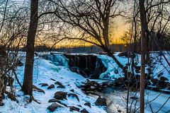 Whitnall Waterfall in Winter