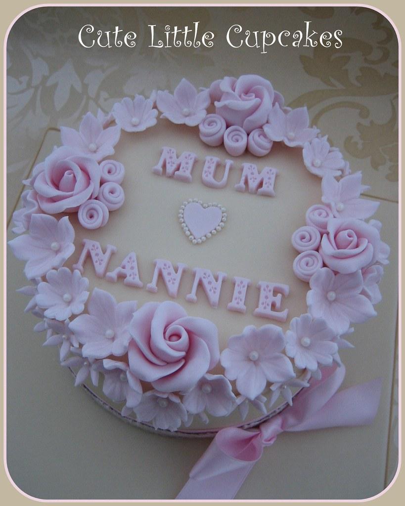 Astonishing Shabby Chic Birthday Cake Heidi Stone Flickr Personalised Birthday Cards Vishlily Jamesorg
