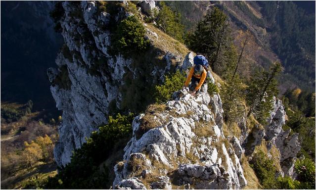 _MG_3847  Traunstein Ostgrat (II) / Oktober 2008