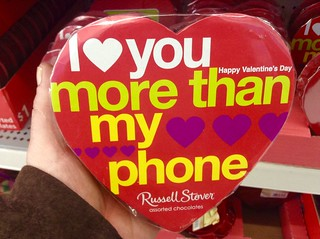 "Valentine Day Chocolate Heart, ""I Love You More than My Phone""! 2/2015, by Mike Mozart of TheToyChannel and JeepersMedia on YouTube #Valentine #Day"