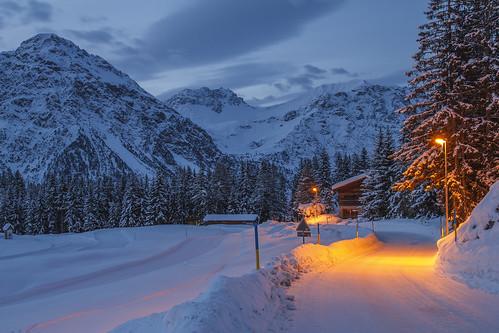 schnee winter arosa morgenstimmung eos7d markusstrebel