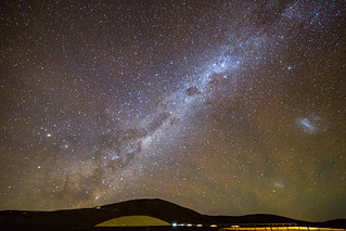 The Milky Way is rising above the horizon