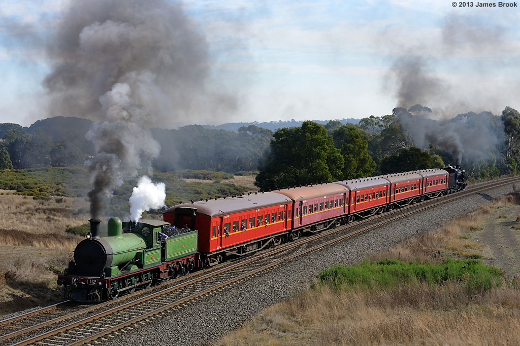 Y112 and K153 at Warrenheip with 8168 by James Brook