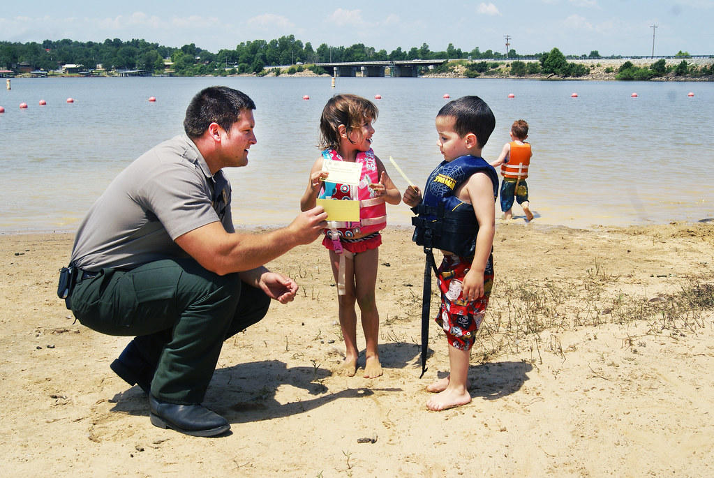 Kids love to make water barriers out of the sand to challenge the ocean.