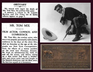 12th October 1940 - Death of Tom Mix | by Bradford Timeline
