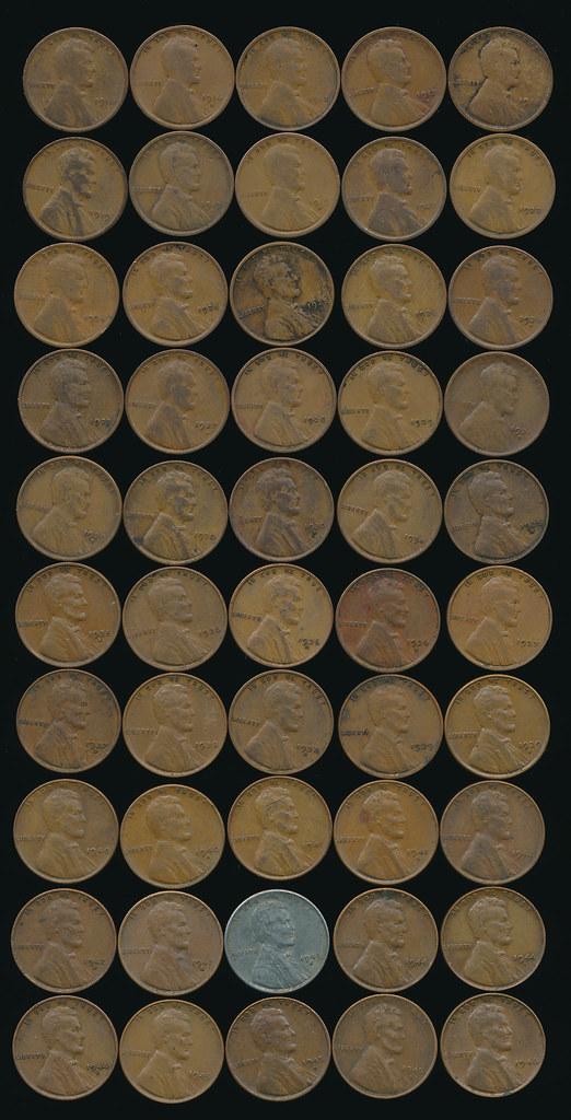 RD 6070 Pennies 1916-1946