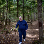 My grandfather hiking at Step Falls Preserve