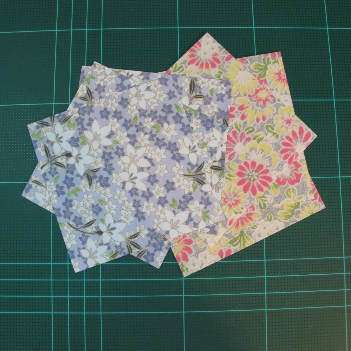 การพับกระดาษเป็นรูปเรขาคณิตทรงลูกบาศก์แบบแยกชิ้นประกอบ (Modular Origami Cube) 001