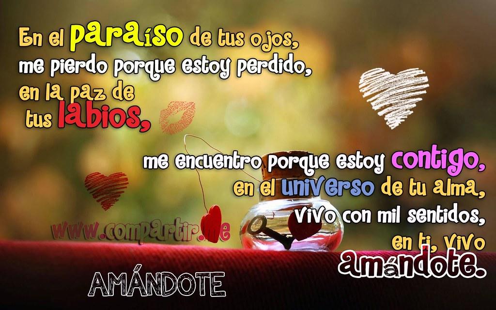 Frases De Amor Imagen Con Poema De Amor El Paraíso Labio