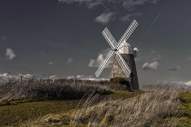 The Halnaker Windmill, Halnaker, Chichester, West Sussex, England, Uk