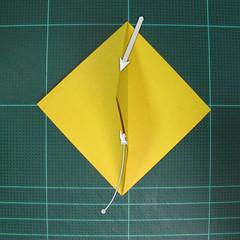 วิธีพับกระดาษเป็นรูปนกยูง (Origami Peacock - ピーコックの折り紙) 007