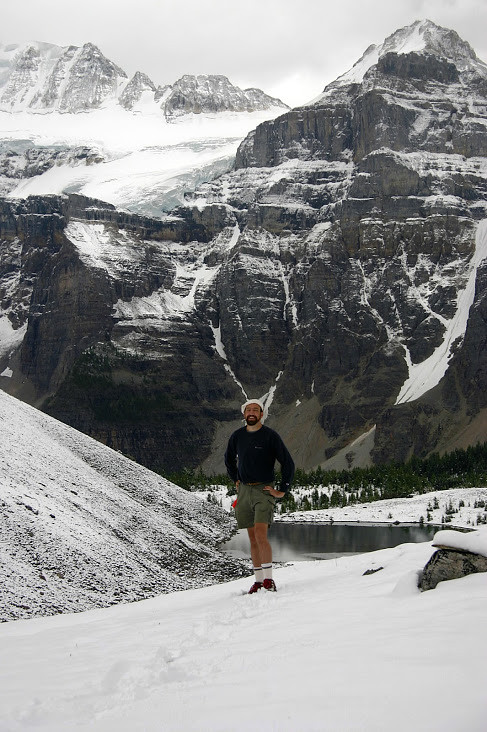 Banff - Sentinel Pass - me in pass snow