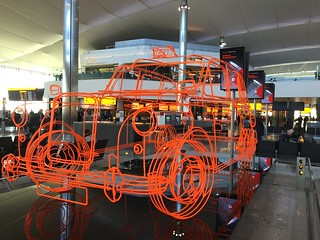 Orange cab artwork at Heathrow | by orangegirlnz