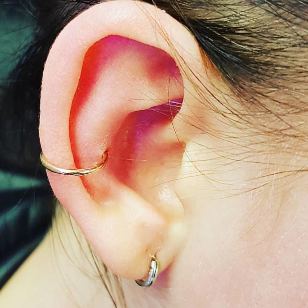 Golden Ear Inner Conch Mit Rosegold Ring Innerconchpierc Flickr