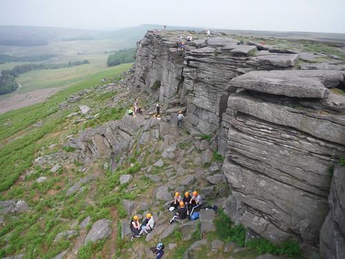 Rockclimbers, Stanage Edge SWC Walk 266 - Sheffield to Bamford (via Burbage Rocks and Stanage Edge) or to Moscar Lodge