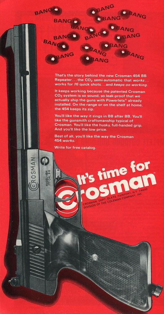 1973 Crosman BB Gun Advertising Outdoor Life April 1973 | Flickr