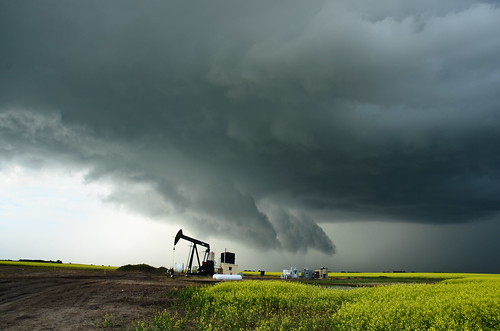 Supercell north of Alliance, Alberta