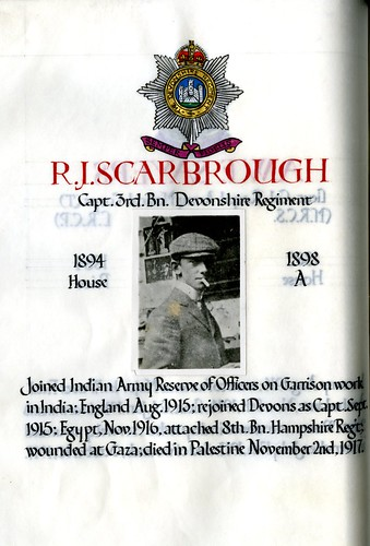 Scarbrough, Reginald John (1880-1917) | by sherborneschoolarchives