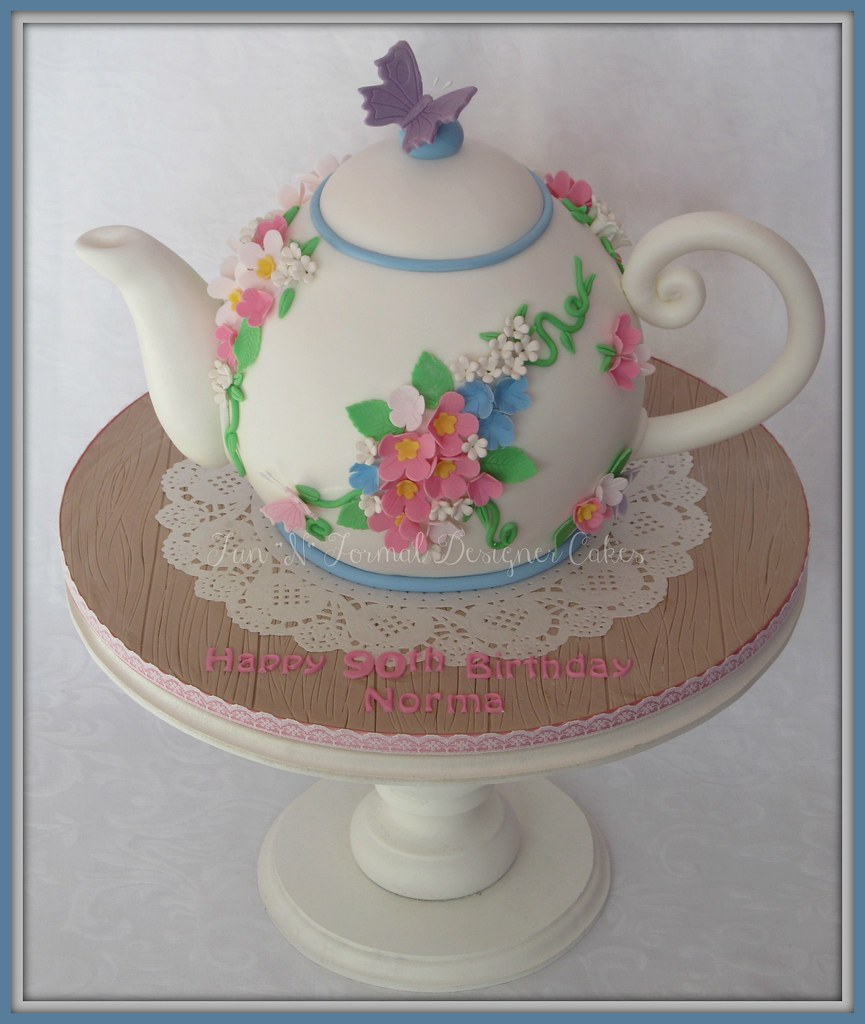 Fine Vintage Teapot Birthday Cake Melissa Woodward Flickr Personalised Birthday Cards Cominlily Jamesorg