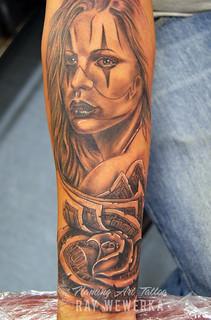 Money Rose Tattoo Www Facebook Com Flamingarttattoo Flaming Art