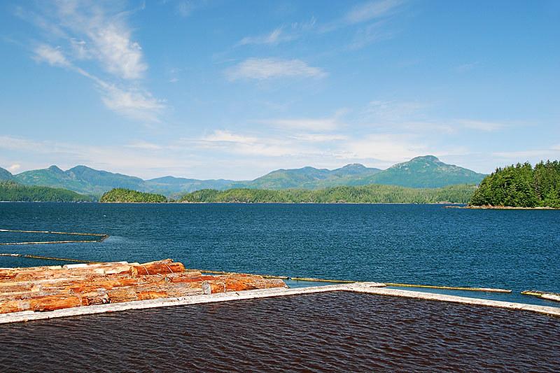Sarita Log Dump in Christie Bay off Trevor Channel, Barkley Sound, Vancouver Island, British Columbia