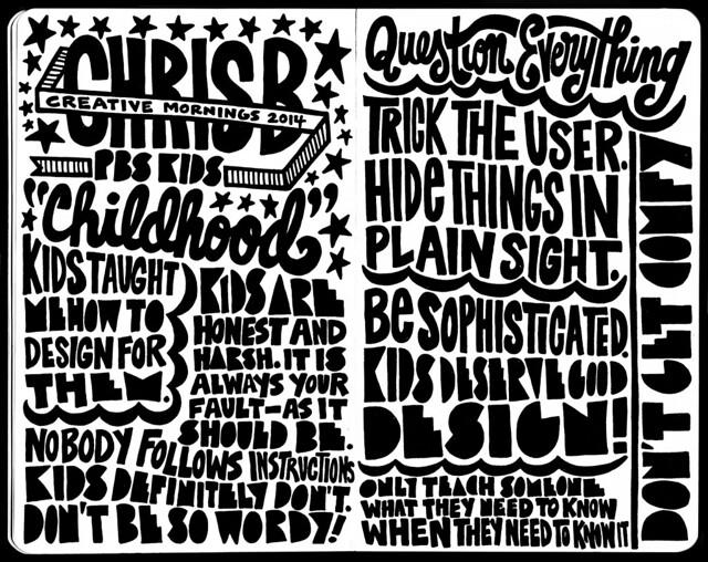 2014 Creative Mornings (Chris Bishop) Sketchnotes