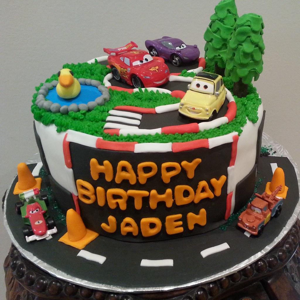 Cars Theme For Jadens 3rd BirthdayI Make A Very Rich Chocolate Fudge Cake Which Is Soooo Heavenly Delicious Enjoy Happy Birthday Jaden
