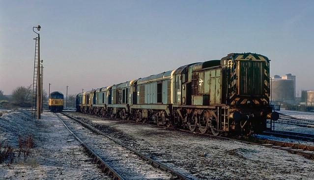 Frodingham Depot's scrap line. 1993.