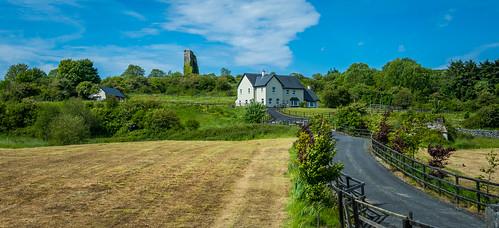 ireland house landscape ruins scenery
